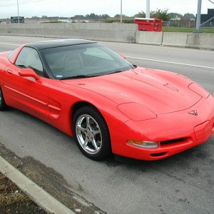 Red C5 coupe