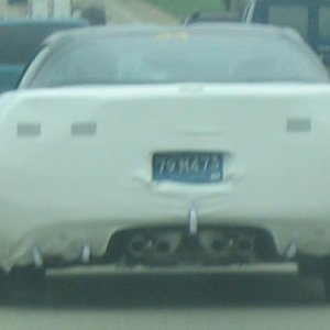 C6 Spy Shot rear