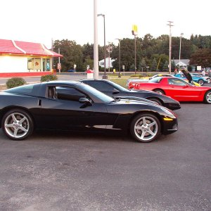 C6 down the line of vettes