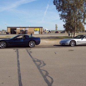 Roy and Al's Vettes at Buttonwillow