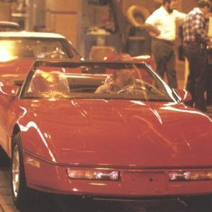 1986 Corvette vert hot off the press