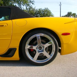 yellow Corvette convertible-converted  Z06