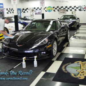 New 07 Z06 from Rick Conti - still in OH - installing 3M