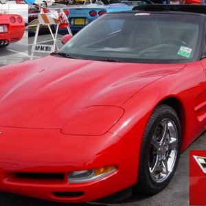 Big Red Corvette