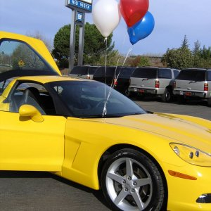 Taking delivery - Velocity Yellow C6
