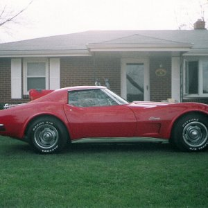 Kev's vette, a day at the ranch