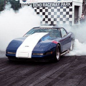 GS Clone Racecar Doing A Burnout