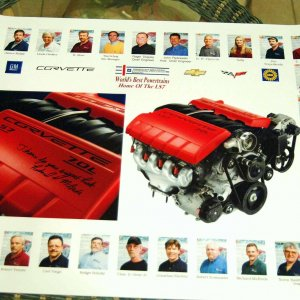 LS7 Performance Build Center Poster