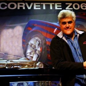 Jay Leno with Z06 and 500 Trophy
