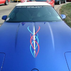 A very patriotic vette from Louisiana.