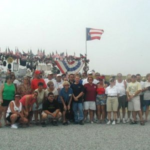The group at the PA crash site memorial