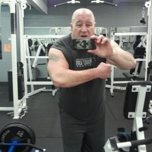 Me in the gym at 288 lbs