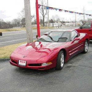 My Corvette on lot day of pickup