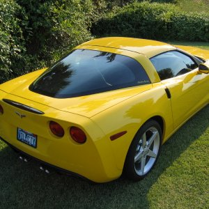 Velocity Yellow C6 Coupe