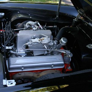 57 Airbox Vette at Cincinnati Corvette Club 50th Anniversary Party
