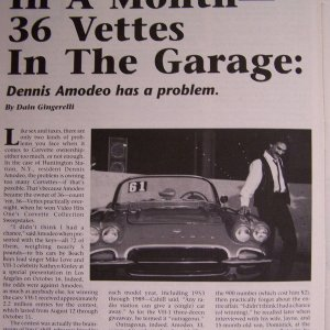 Vette magazine VH1 Article