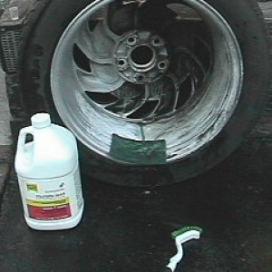 Cleaning of the wheels