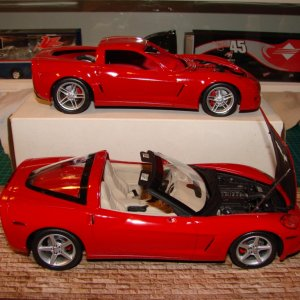 Corvette C6 & Z06 in 1-25 scale