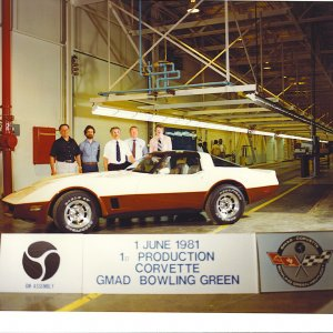 First Corvette built in KY