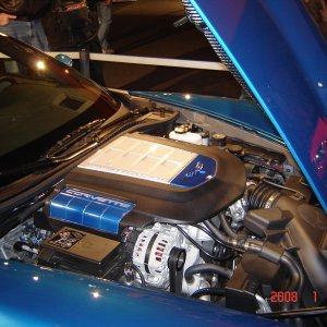 ZR1 Engine compartment at Barrett Jackson 2008