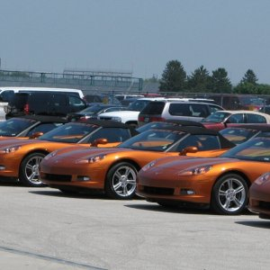 Indy 500 Corvettes