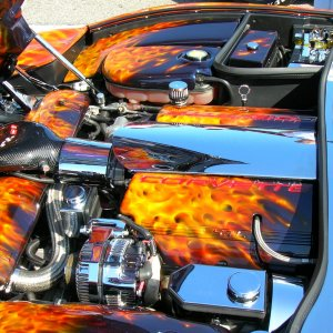 Flamed engine